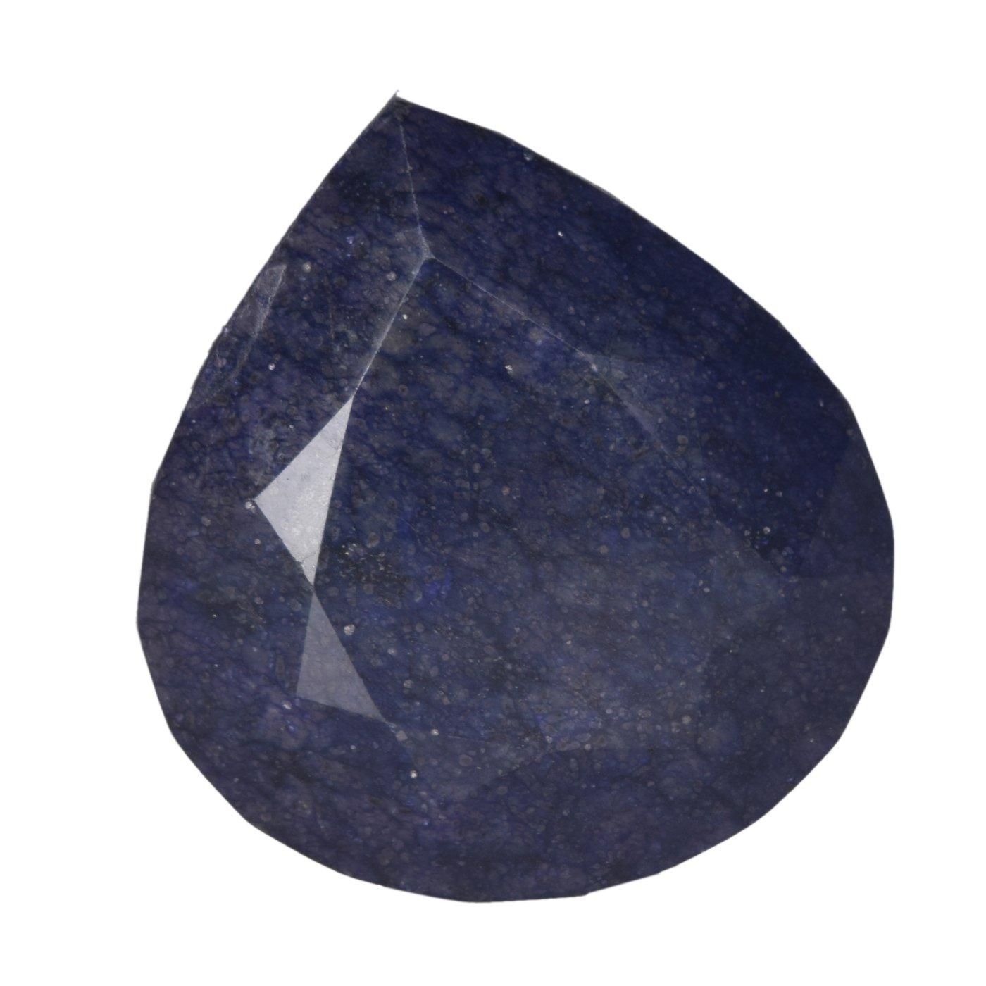 Deep Blue Natural Sapphires Gemstone EGLCertified 2000 Ct.(approximate) Pear Cut Natural Huge Blue Sapphire Loose Gemstone CB-366