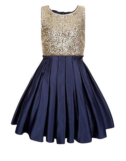 512965cd3 Amazon.com  princhar Sequin Satin Short Girl Dress Little Girls ...