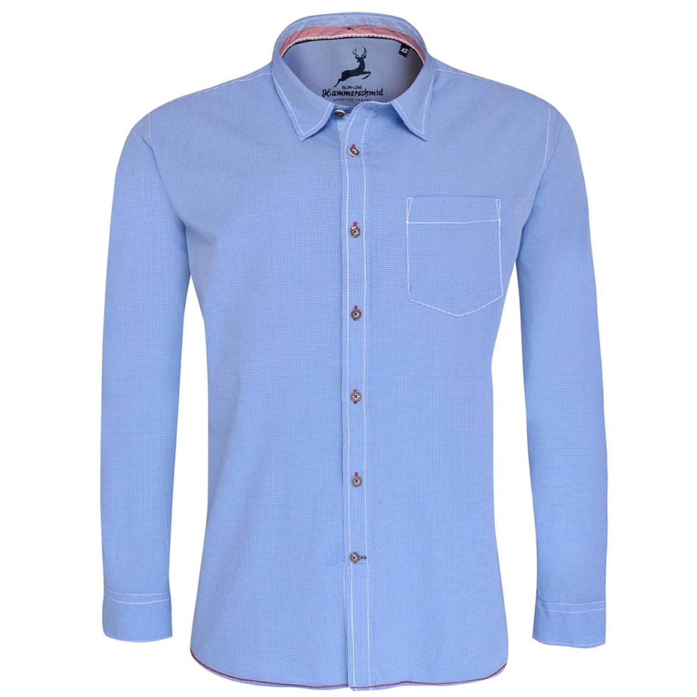 Trachtenhemd Slim Fit in Blau von Hammerschmid