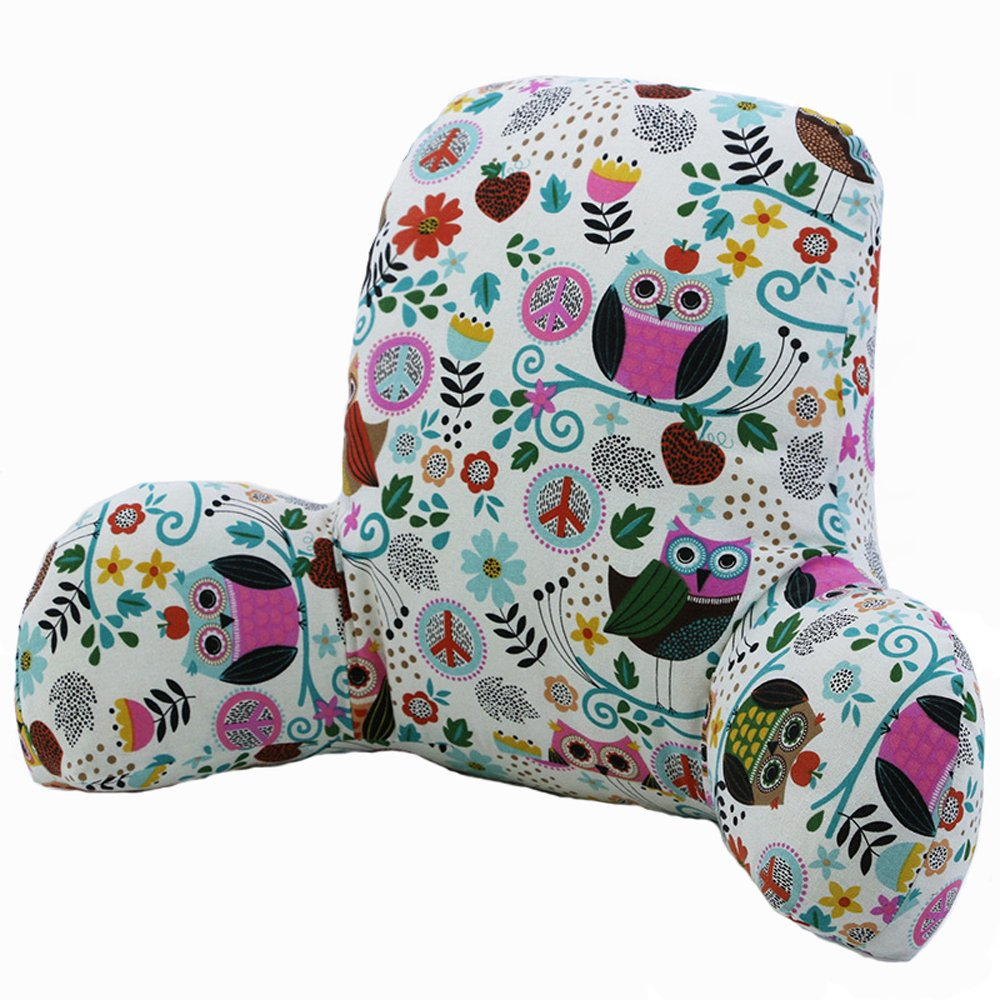 Waist Rest Heightening Office Seat Cushions Lumbar Support Waist Pillow Home Office School Car Waist pillow Sofa Support Backrest (Owl)