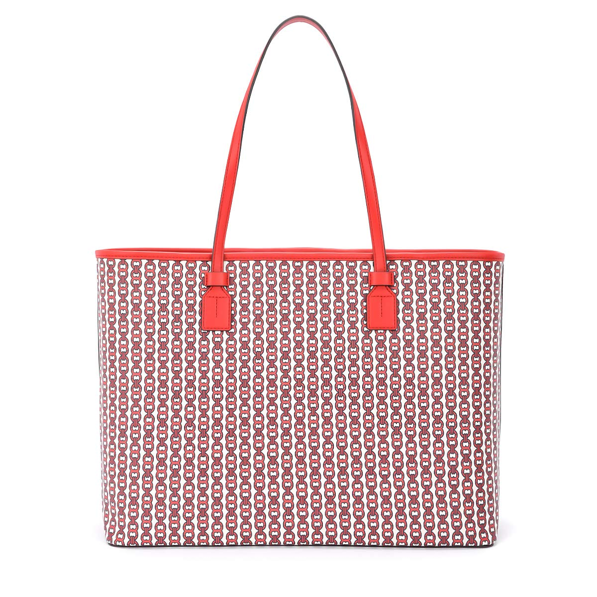 b00356c11 Amazon.com: Tory Burch Gemini Link Small Canvas Tote in Liberty Red:  Clothing
