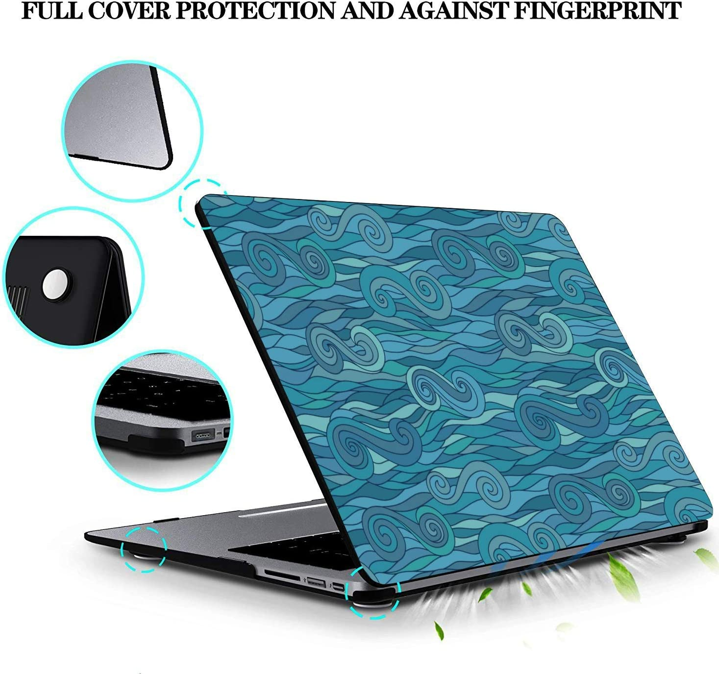 Cover for Laptop Sea Creatures Ornamental Fish Squid Plastic Hard Shell Compatible Mac Air 11 Pro 13 15 MacBook Pro Laptop Cover Protection for MacBook 2016-2019 Version