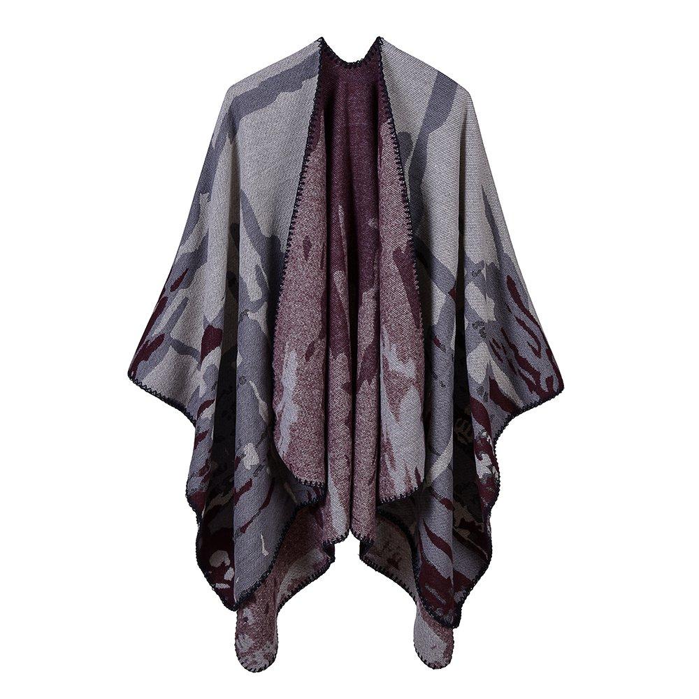 Shawl Wrap For Women Vintage Sweater Shawl Wrap Poncho Cape by Wodecasa