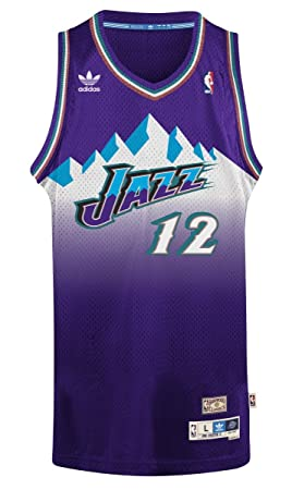 Adidas John Stockton Utah Jazz NBA Throwback Swingman Mountains Jersey - Purple, NBA, Color, tamaño S: Amazon.es: Deportes y aire libre