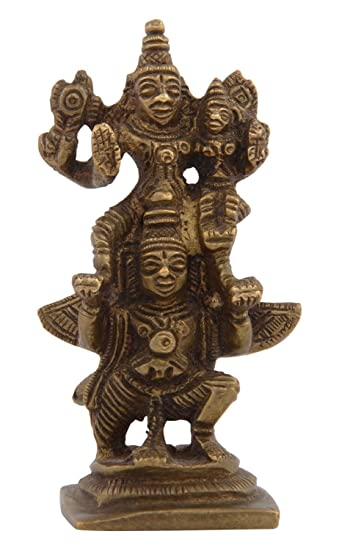 Amazon Com Kapasi Handicrafts Emporium Brass Lord Vishnu Lakshmi