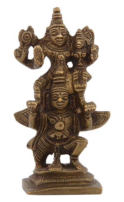 Buy Kapasi Handicrafts Emporium Brass Lord Vishnu Lakshmi Standing