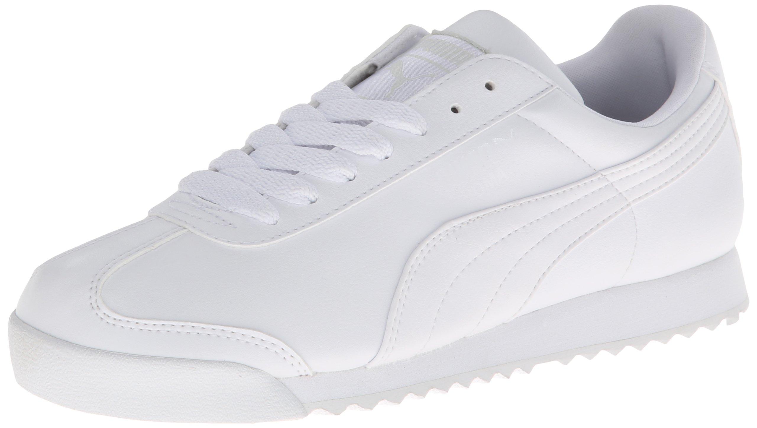 PUMA Women's Roma Basic Classic Sneaker,White/Light Gray,7.5 B US