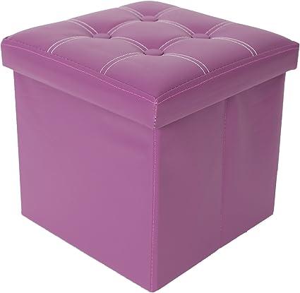 - Art similpelle mdf RE4634 Misure 30 x 30 x 30 cm Rebecca Mobili Puff contenitore per arredo casa HxLxP sgabello cubo moderno