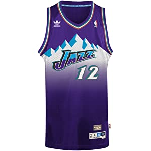... John Stockton Utah Jazz Adidas NBA Throwback Swingman Mountains Jersey  - Purple ... d020383e2