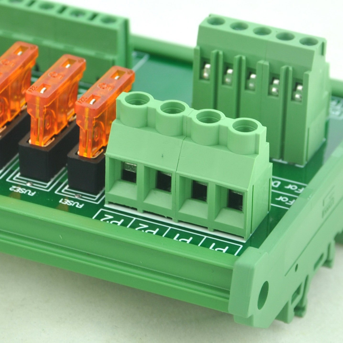 Electronics-Salon Panel Mount 10 Position Power Distribution Fuse Module Board For AC//DC 5~32V .