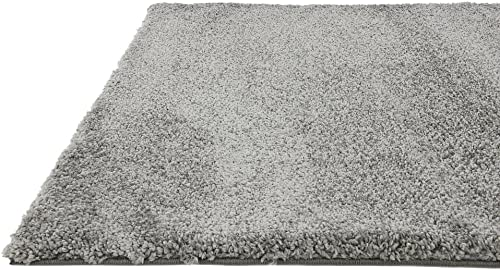 Unique Loom Solo Collection Solid Plush Kids Gray Area Rug 5' 0 x 7' 7