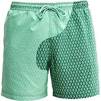 RZKJ Kleurwisselende zwembroek voor heren, sportbroek, korte strandbroek voor mannen, watergeving, verkleuring…