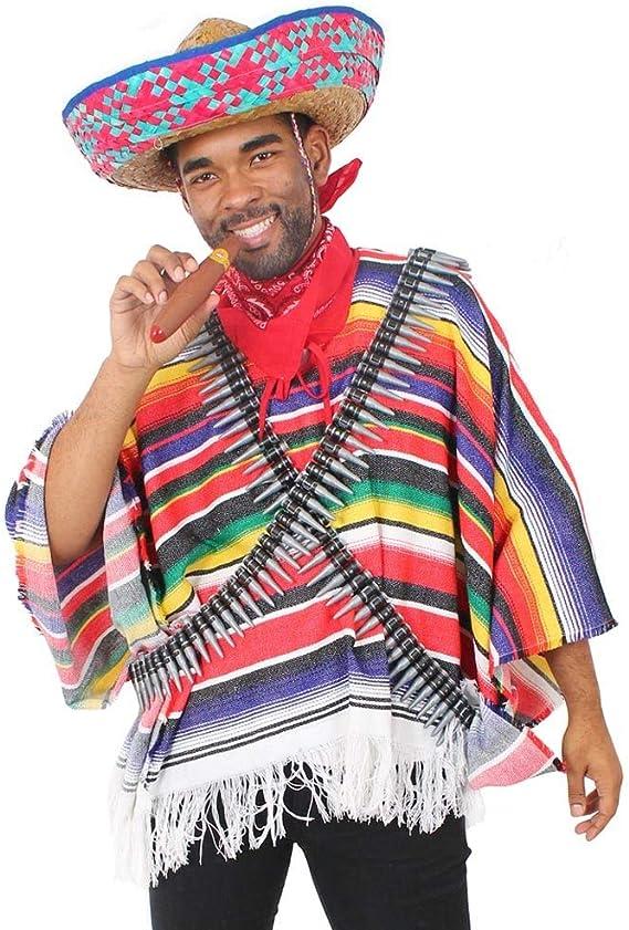 ILOVEFANCYDRESS Disfraz DE Bandido Mexicano para Adultos con ...