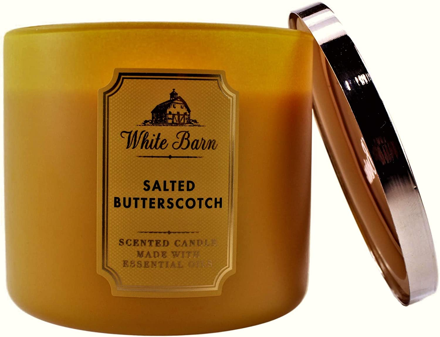 Bath and Body Works White Barn Wick 3 Butterscotch Selling rankings Free Shipping New Salted Candle