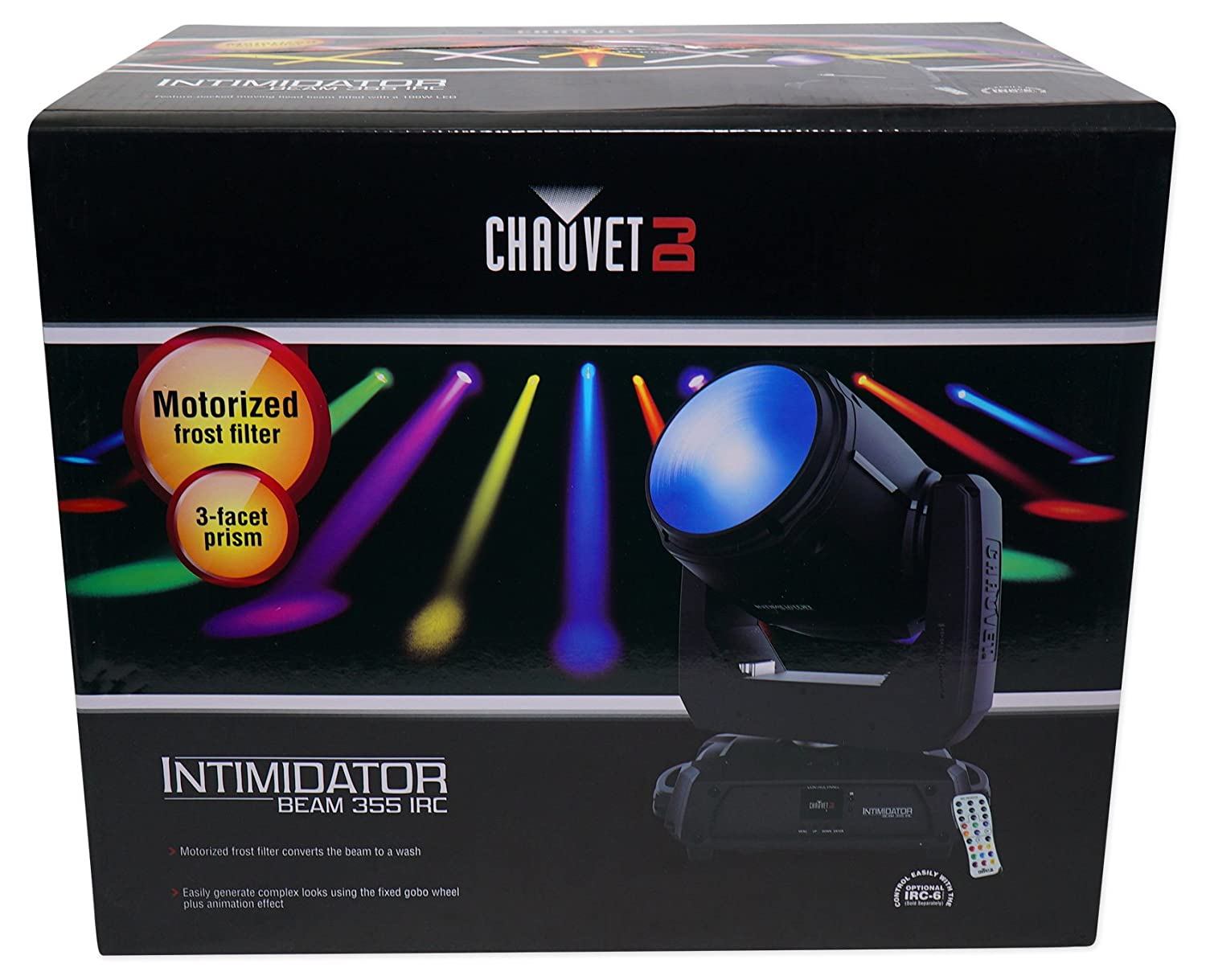 Amazon.com: Chauvet DJ Intimidator Beam 355 IRC Moving Head+Adjustable Totem Light Stand: Musical Instruments