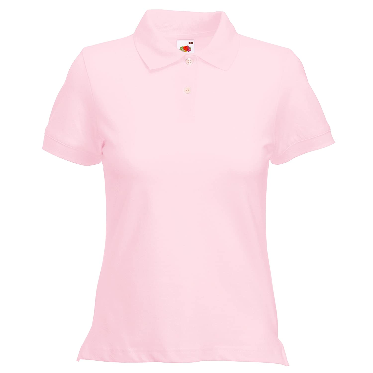 Donna M Fruit of the Loom Azzurro Cielo Polo Manica Corta