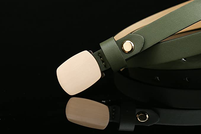 Gurscour Womens Smooth Casual Cintura sottile cintura per abito da sera