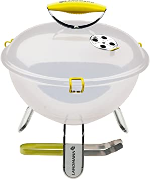 Landmann Piccolino - Barbacoa portátil, 34 cm, color blanco