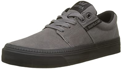 3ec6d97eb439 Supra Men s Stacks Vulc II HF Charcoal Black Medium   9.5 C D US