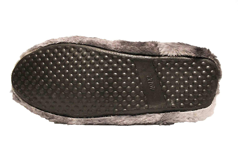 FERETI Stivaletti di Casa Uomo Scarpe Peluche Pantofole Stivali Pelo Caldo Tacco Gomma Alte