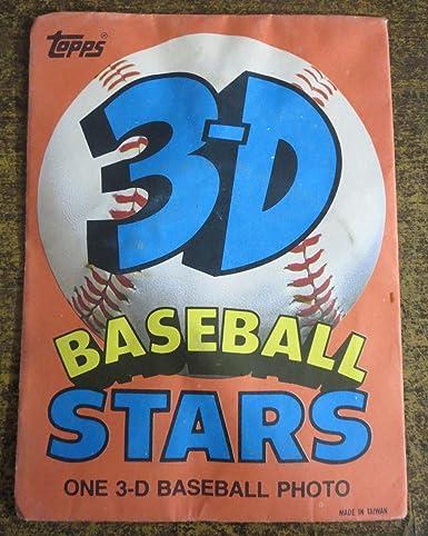 Topps 3 D Baseball Stars Mlb Cards 1986 Orange Series In Packaging