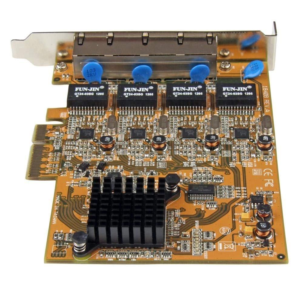 StarTech.com 4 Port PCI Express PCIe Gigabit Ethernet NIC Network ...