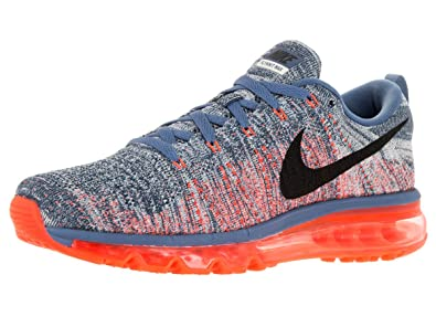 Official Nike Men's Flyknit Max Running Shoe Ocean Fog/Black/Total Crimson/Sl 620469 408