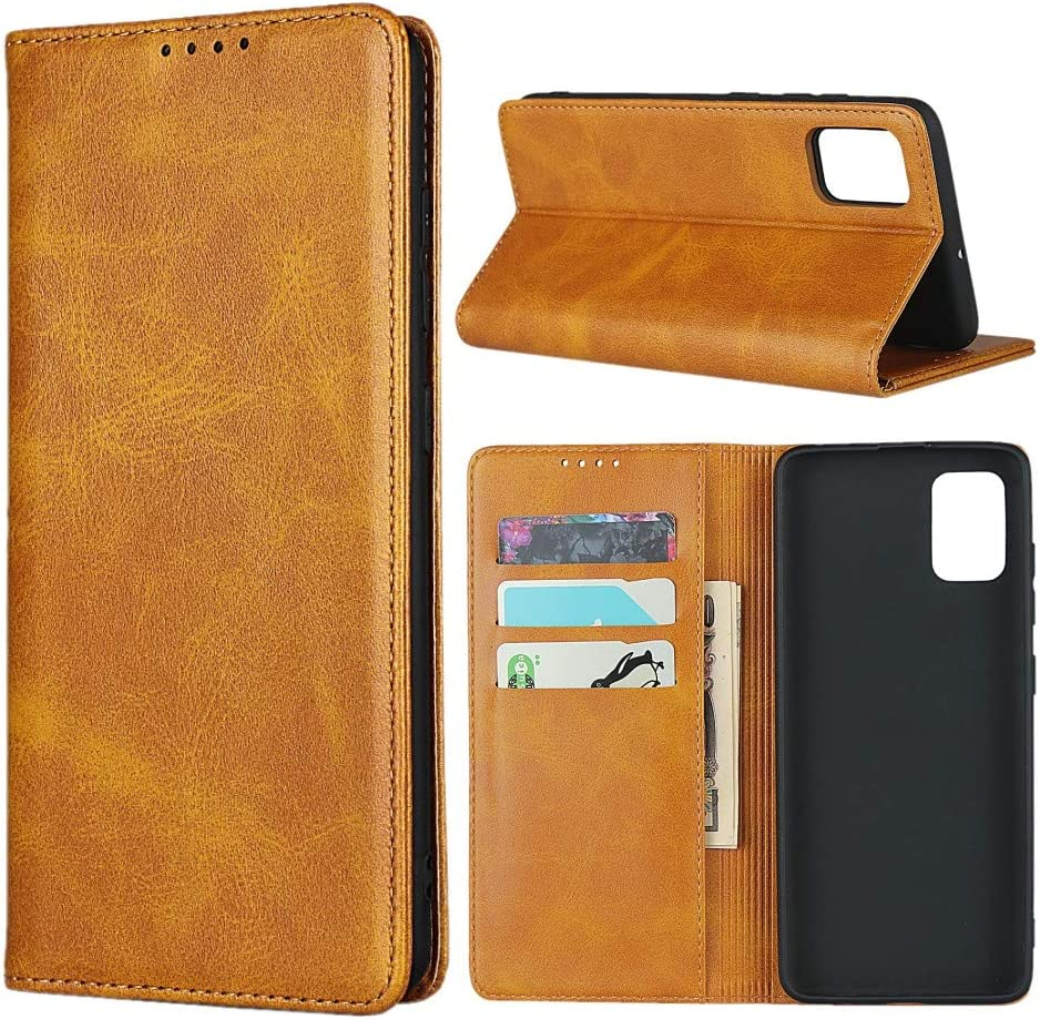 Samsung A51 Case,SunYoo Cowhide Pattern Leather Magnetic Book Wallet Case Stand Holder Flip Cover with Card Slots//Cash Compatible with Samsung Galaxy A51-Black