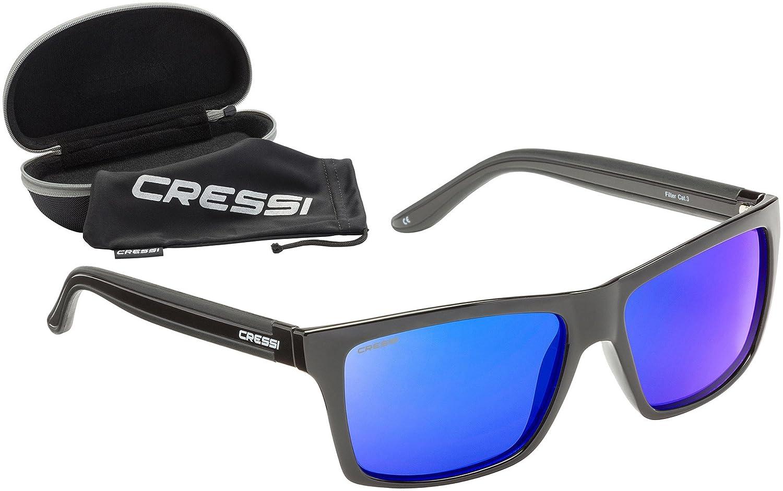 Cressi Rio Gafas de Sol, Unisex Adulto, Negro/Azul, Talla Única: Amazon.es: Deportes y aire libre