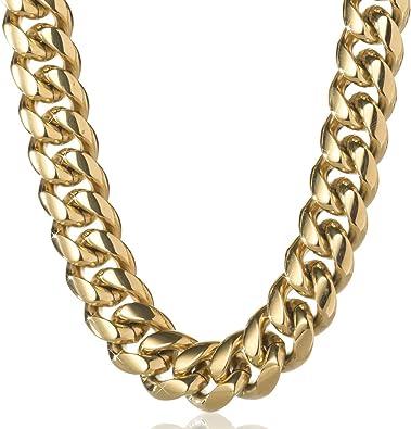 Amazon.com: Tripod Jewelry - Cadena de eslabones cubanos ...