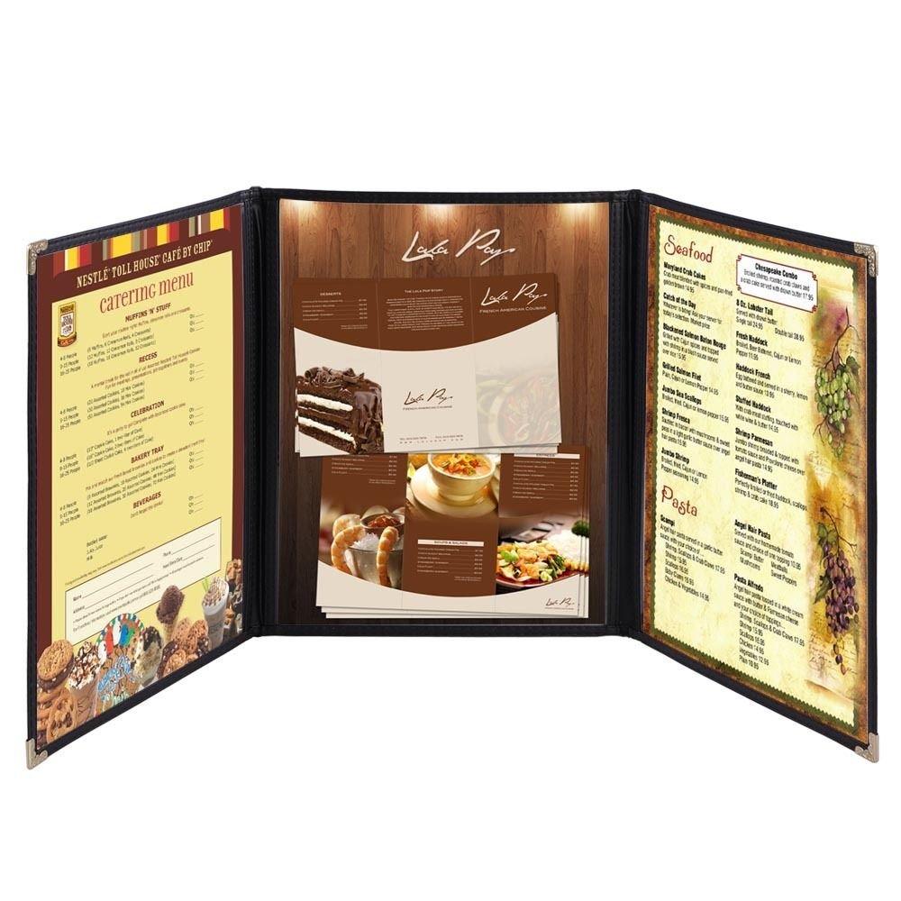 Ampersand tiendas Tri-fold cubierta de restaurante Menú ...