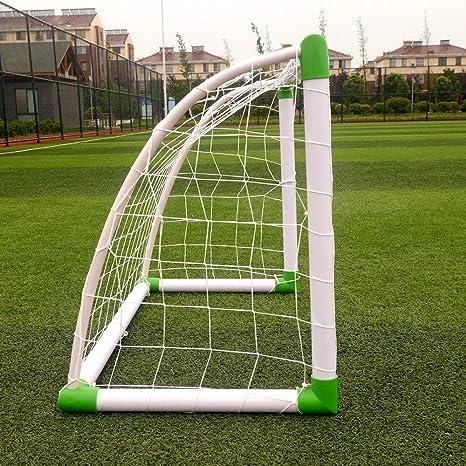 Anchor Ball Training Sets Sports 6 x 4 Football Soccer Goal W//Net Straps