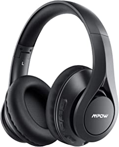Mpow 059 IPO Bluetooth Headphones, Bluetooth 5.0 Over-Ear Headphones with Hi-Fi Sound and Built-in Mic, 30H Playtime, Lightweight Foldable Protein Earpads for Online Class, Home Office, TV/PC/Phone