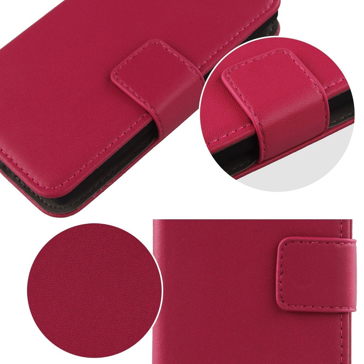 Gukas Design Genuino Cuero Case para Wolder WIAM #65 5.5