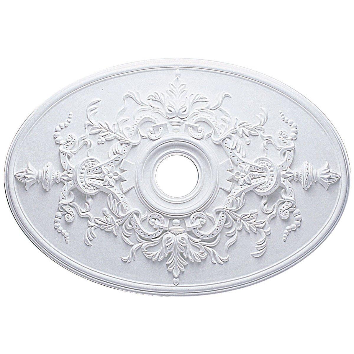 Ekena Millwork CM21X30AL 21 1/4-Inch W x 30 3/4-Inch H x 1 5/8-Inch P Alexa Ceiling Medallion (Fits Canopies up to 5 5/8'')
