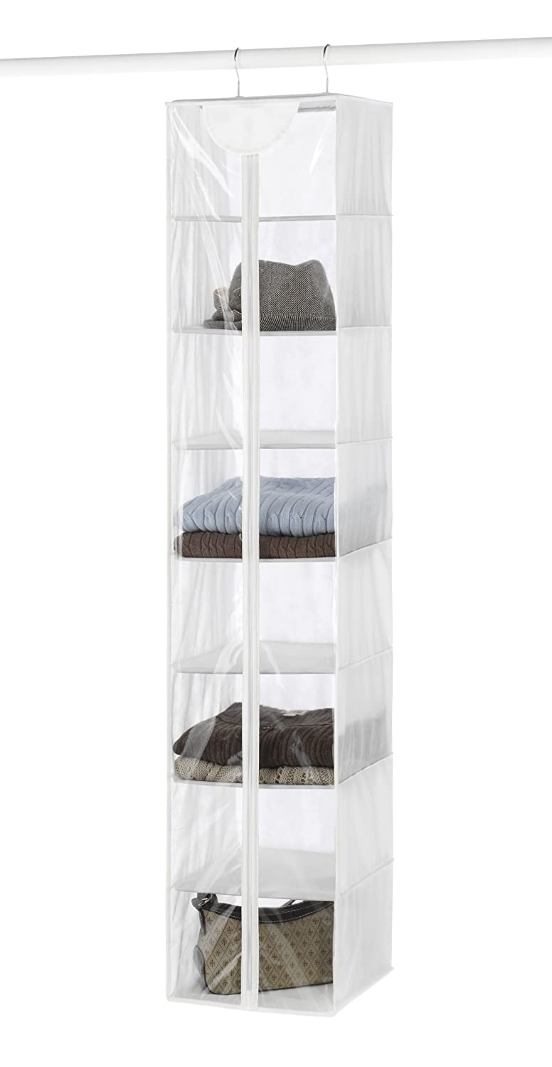 Whitmor Crystal Clear Hanging Sweater Bag - White 6044-275