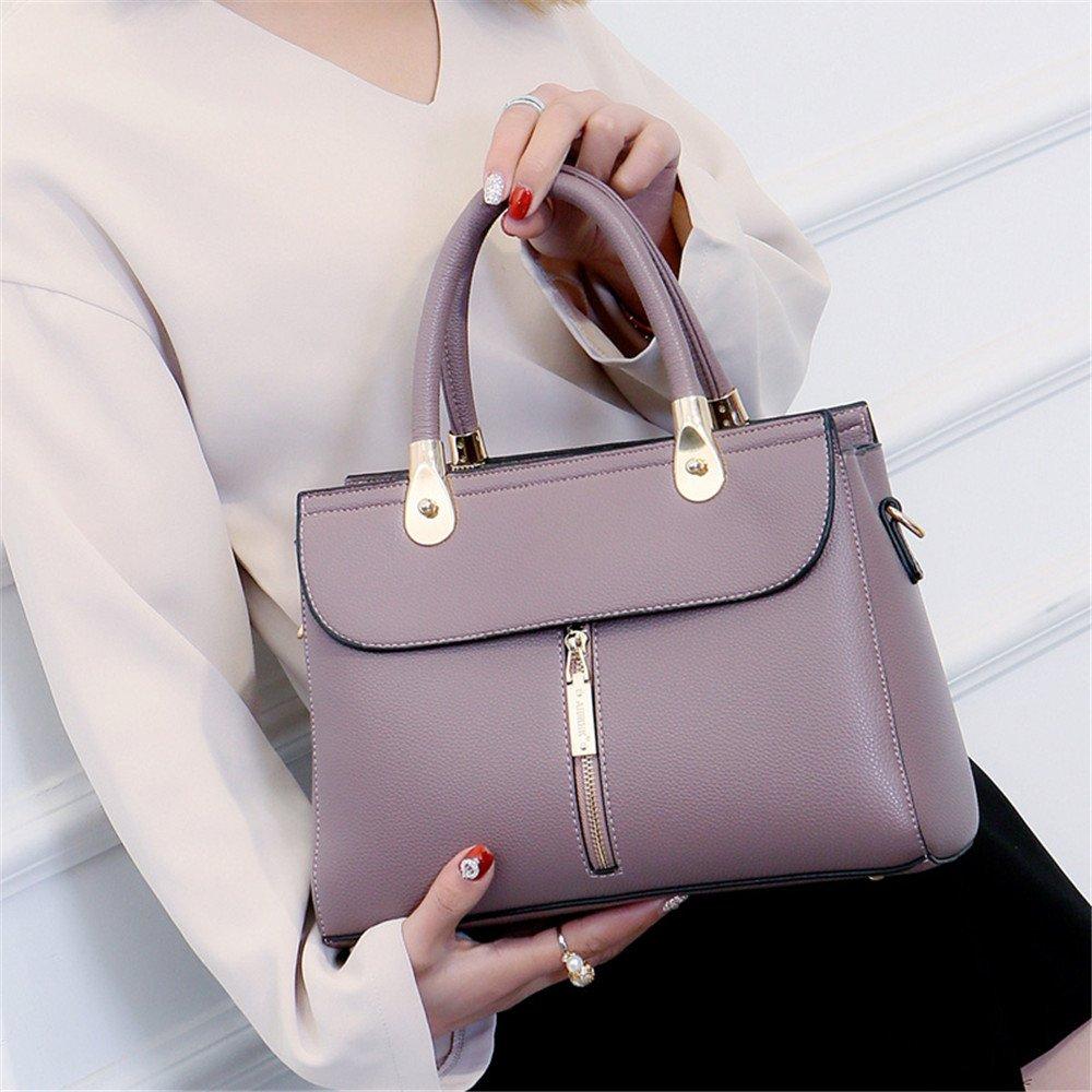 ALLHM Hand Bags Leather Ladies Handbag Fashion Large-Capacity Shoulder Bag Messenger Bag Color : Brown, Size : OneSize