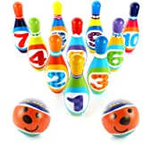 Hyrrt Kids Bowling Toy Set, Indoor Outdoor Bowling Games for Children/Toddlers/Boys/Girls for Early Development/Sport…
