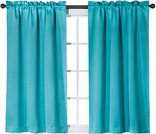 Eclipse Kids Thermaweave Dot Window Panel – Turquoise 42×63