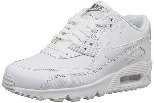 f4682682d91 Nike Air Max 90 LTR (GS) (724821-100), WHITE/WHITE-COOL GREY, 36 ...