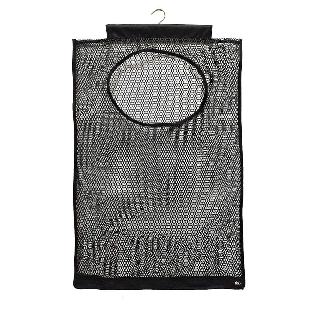 Window-pick 2PCS Hanging mesh Laundry Hamper Bag,Wall-Mounted Dirty Pocket Mesh Perspective Storage Bag for Closets Dorms Travel