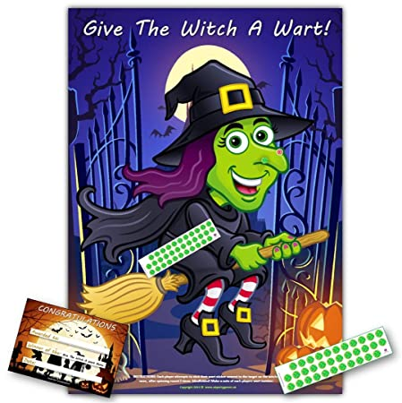halloween party game give the witch a wart upto 35 players h