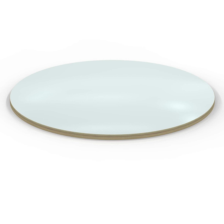 AUPROTEC Tischplatte 18mm rund /Ø 900 mm schwarz Multiplexplatte melaminbeschichtet von 20cm-148cm ausw/ählbar runde Sperrholz-Platten Birke Massiv Multiplex Holz Industriequalit/ät