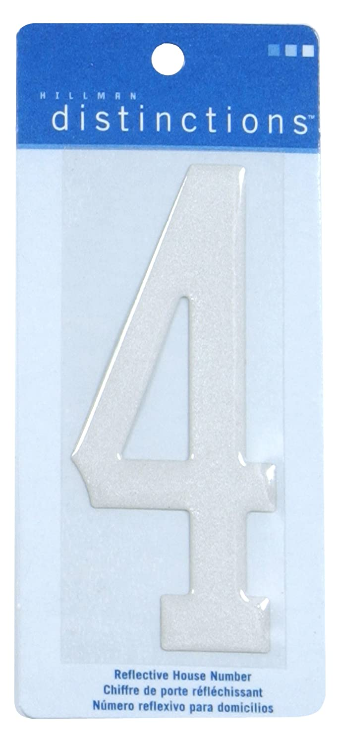 The Hillman Group 848952 Stick-On Reflective Domed, Number 4