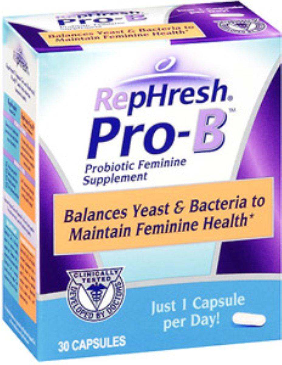 RepHresh Pro-B Probiotic Feminine Supplement, Capsules 30 ea (Pack of 5)