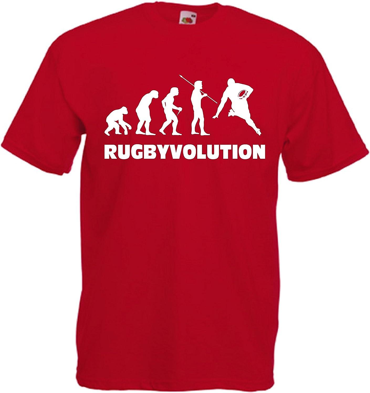CHEIDEASTORE T-Shirt Maglietta RUGBYEVOLUTION Sport Bambino