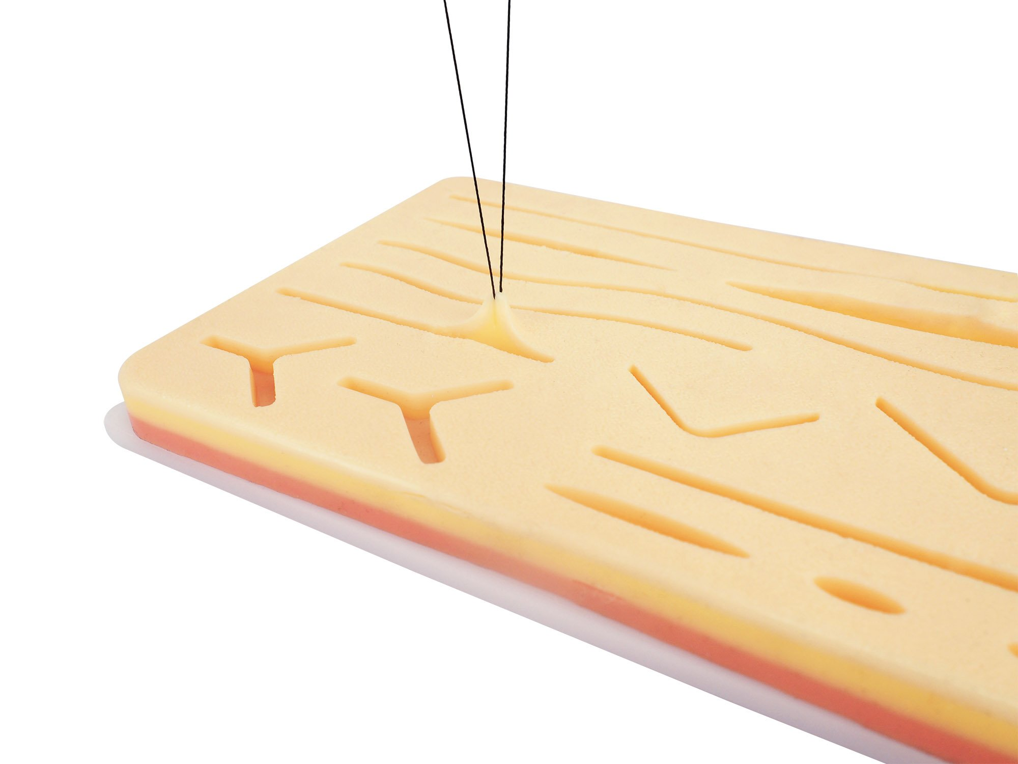 Suture Pad - Practice Your Suturing and Medical Training - Large - 3 Layers with Skin Wounds - Anti-Slip Base - Added Webbing Between Layers to Increase Strength & Durability