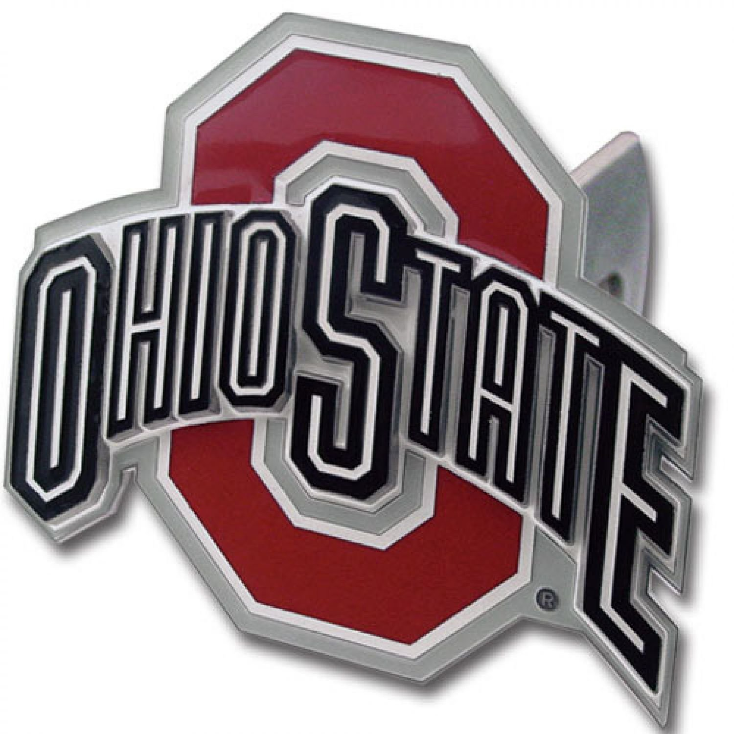 Ohio State Buckeyes Logo-Only Trailer Hitch Cover