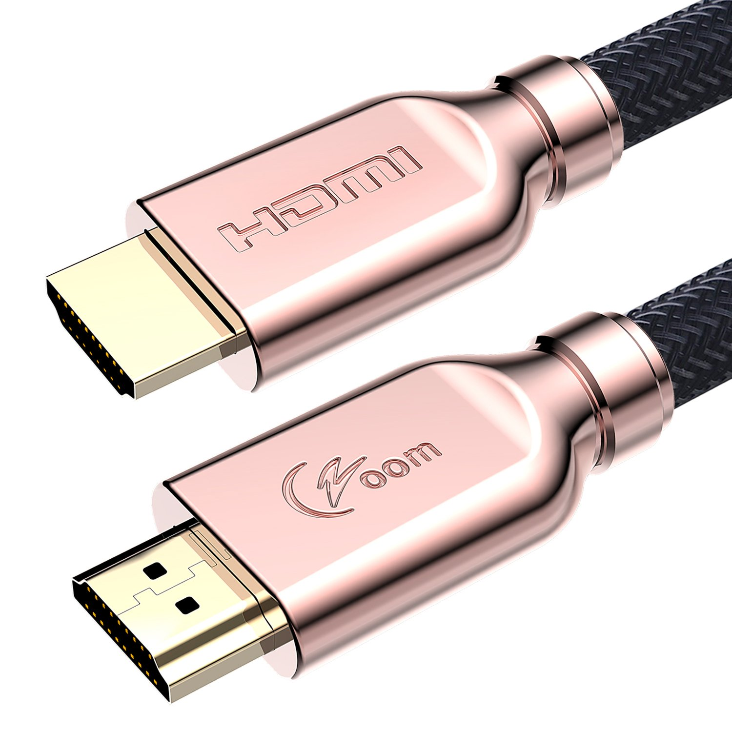4K HDMI Cable 6 Feet - Ultra High Speed 18Gbps HDMI 2.0 Cable - 28AWG Braided HDMI Cord - Ethernet, Audio Return - Video 4K HDR UHD 2160p HD 1080p 3D for Blu-ray Player, Xbox, PS4 PS3, PC, Apple TV