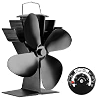 Silent Operation 4-Blade Heat Powered Stove Fan for Wood/Log Burner/Fireplace - Eco Friendly JKsmart